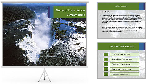 Aerial view of Devil's throat PowerPoint Template