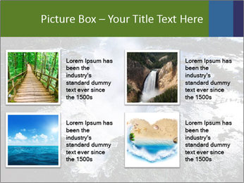 Aerial view of Devil's throat PowerPoint Template - Slide 14