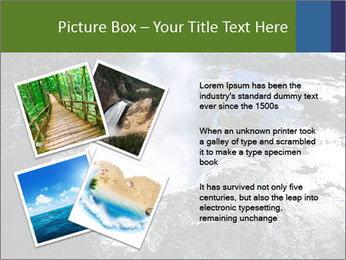 Aerial view of Devil's throat PowerPoint Template - Slide 23