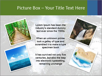 Aerial view of Devil's throat PowerPoint Template - Slide 24