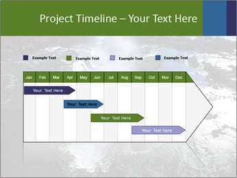 Aerial view of Devil's throat PowerPoint Template - Slide 25