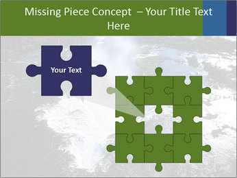 Aerial view of Devil's throat PowerPoint Template - Slide 45