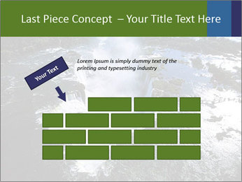 Aerial view of Devil's throat PowerPoint Template - Slide 46