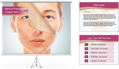 Skin after cosmetic procedure PowerPoint Template