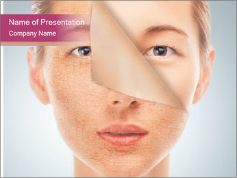 Skin after cosmetic procedure PowerPoint Template - Slide 1