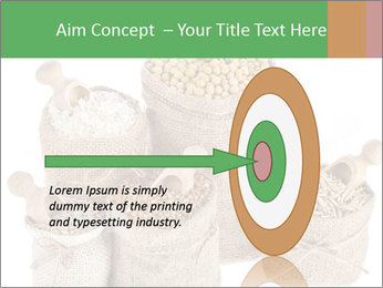 Corn kernel seed meal and grains in bags collection PowerPoint Template - Slide 83