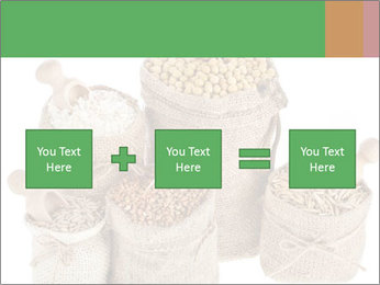Corn kernel seed meal and grains in bags collection PowerPoint Template - Slide 95