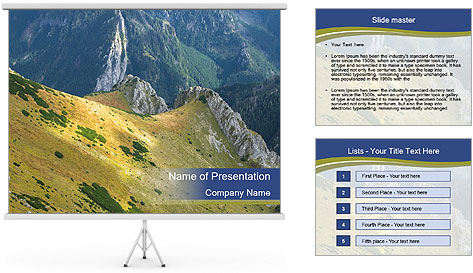 Rock on Tatra Mountains PowerPoint Template