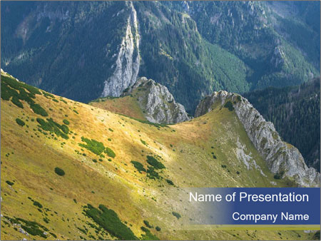 Rock on Tatra Mountains PowerPoint Templates