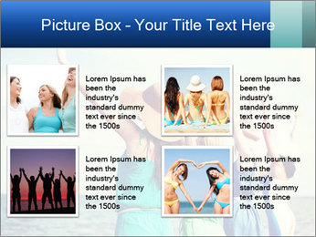 Summer holidays and vacation - girls with hands up PowerPoint Template - Slide 14