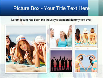Summer holidays and vacation - girls with hands up PowerPoint Template - Slide 19