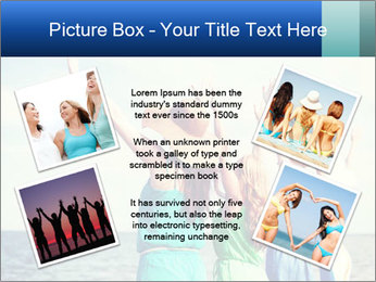 Summer holidays and vacation - girls with hands up PowerPoint Templates - Slide 24