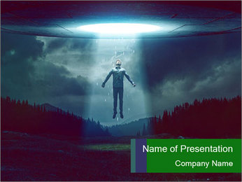 UFO PowerPoint Template - Slide 1