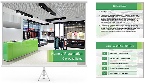 Luxury and fashionable brand PowerPoint Template