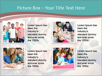 Group of students preparing for exams PowerPoint Templates - Slide 14