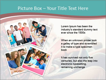 Group of students preparing for exams PowerPoint Template - Slide 23