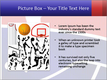 Raster version of a red and blue basketball PowerPoint Template - Slide 13