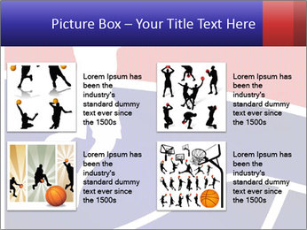 Raster version of a red and blue basketball PowerPoint Template - Slide 14