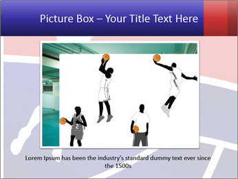 Raster version of a red and blue basketball PowerPoint Template - Slide 15
