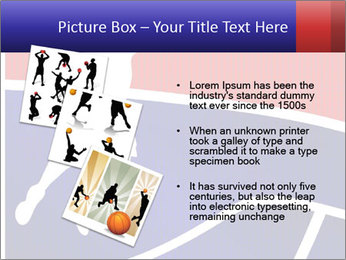 Raster version of a red and blue basketball PowerPoint Template - Slide 17