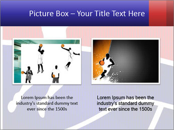 Raster version of a red and blue basketball PowerPoint Template - Slide 18