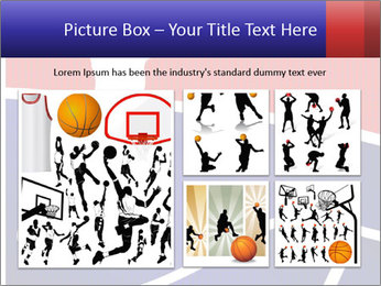 Raster version of a red and blue basketball PowerPoint Template - Slide 19