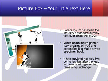 Raster version of a red and blue basketball PowerPoint Template - Slide 20