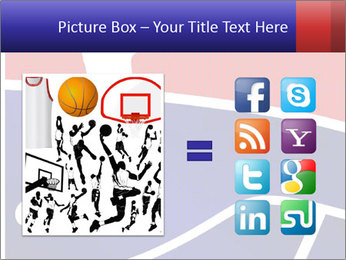 Raster version of a red and blue basketball PowerPoint Template - Slide 21