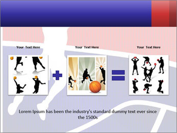 Raster version of a red and blue basketball PowerPoint Template - Slide 22