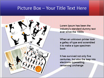 Raster version of a red and blue basketball PowerPoint Template - Slide 23