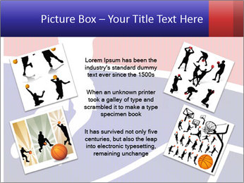 Raster version of a red and blue basketball PowerPoint Template - Slide 24