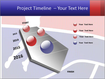 Raster version of a red and blue basketball PowerPoint Templates - Slide 26