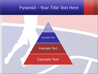 Raster version of a red and blue basketball PowerPoint Template - Slide 30