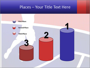 Raster version of a red and blue basketball PowerPoint Template - Slide 65
