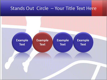 Raster version of a red and blue basketball PowerPoint Template - Slide 76