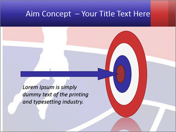 Raster version of a red and blue basketball PowerPoint Template - Slide 83