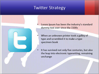Raster version of a red and blue basketball PowerPoint Template - Slide 9