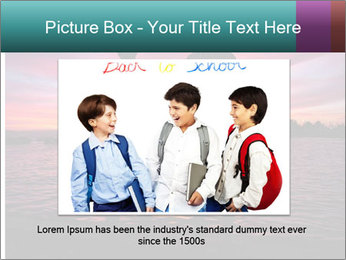 Little and Big couple and the sunset PowerPoint Template - Slide 16