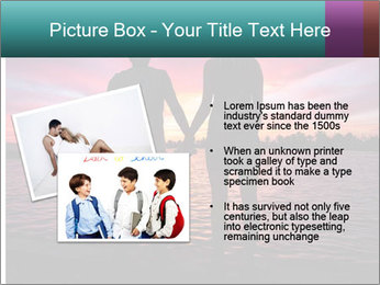 Little and Big couple and the sunset PowerPoint Template - Slide 20