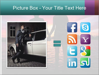 Little and Big couple and the sunset PowerPoint Template - Slide 21