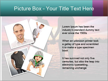 Little and Big couple and the sunset PowerPoint Template - Slide 23