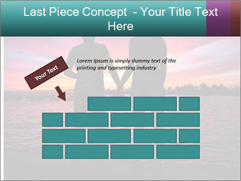 Little and Big couple and the sunset PowerPoint Template - Slide 46