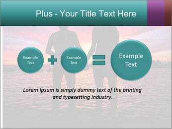 Little and Big couple and the sunset PowerPoint Template - Slide 75