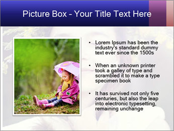 Little girl dreaming PowerPoint Template - Slide 13