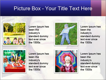 Little girl dreaming PowerPoint Template - Slide 14
