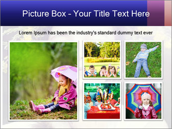 Little girl dreaming PowerPoint Template - Slide 19