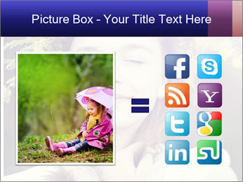 Little girl dreaming PowerPoint Template - Slide 21