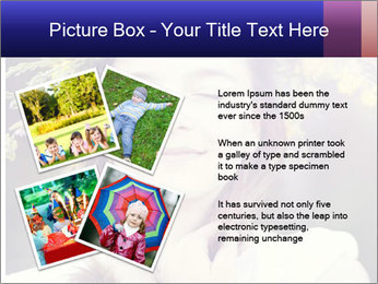 Little girl dreaming PowerPoint Template - Slide 23