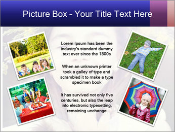 Little girl dreaming PowerPoint Template - Slide 24