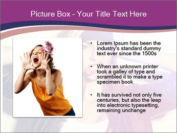 Closeup studio shot of pretty hipster teenage girl PowerPoint Templates - Slide 13